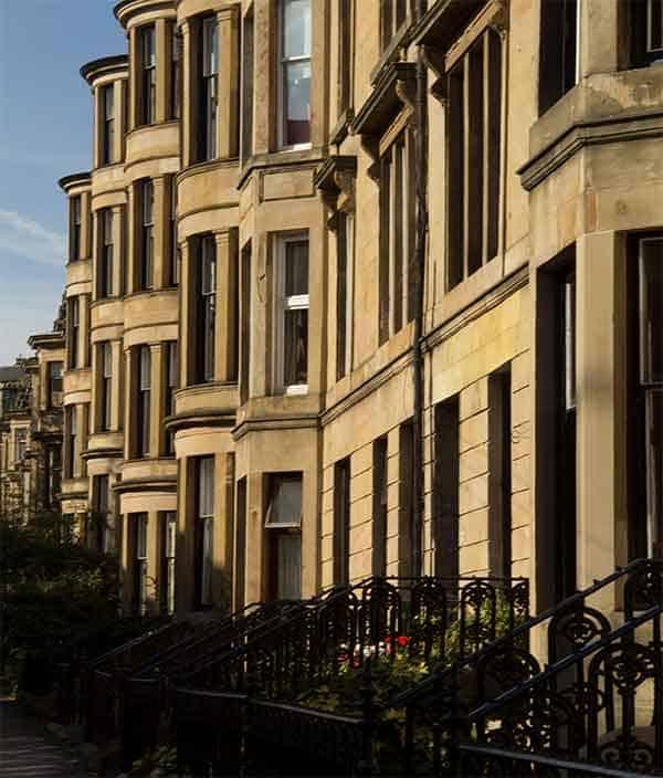 Glasgow tenement flats